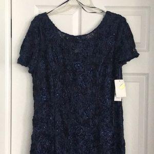Long Evening Dress, Size 16, Navy
